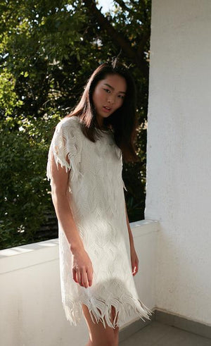 Style: PENELOPE Deco embroidery fringe dress