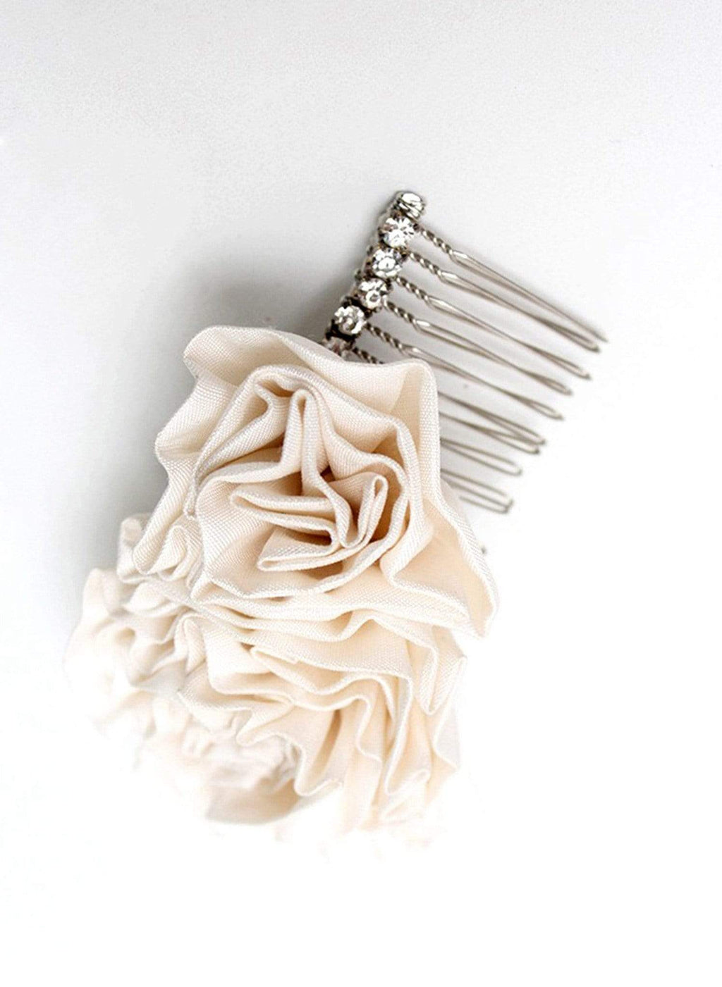 Style: ANITA Silk Pleated Rosette Cluster Head Topping - Peony Rice