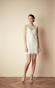 Style: MARIA 2 in 1 Lace Shell & Silky Slip Dress - Peony Rice