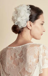 Style: PEONY Organza Layered Flower Clusters - Peony Rice