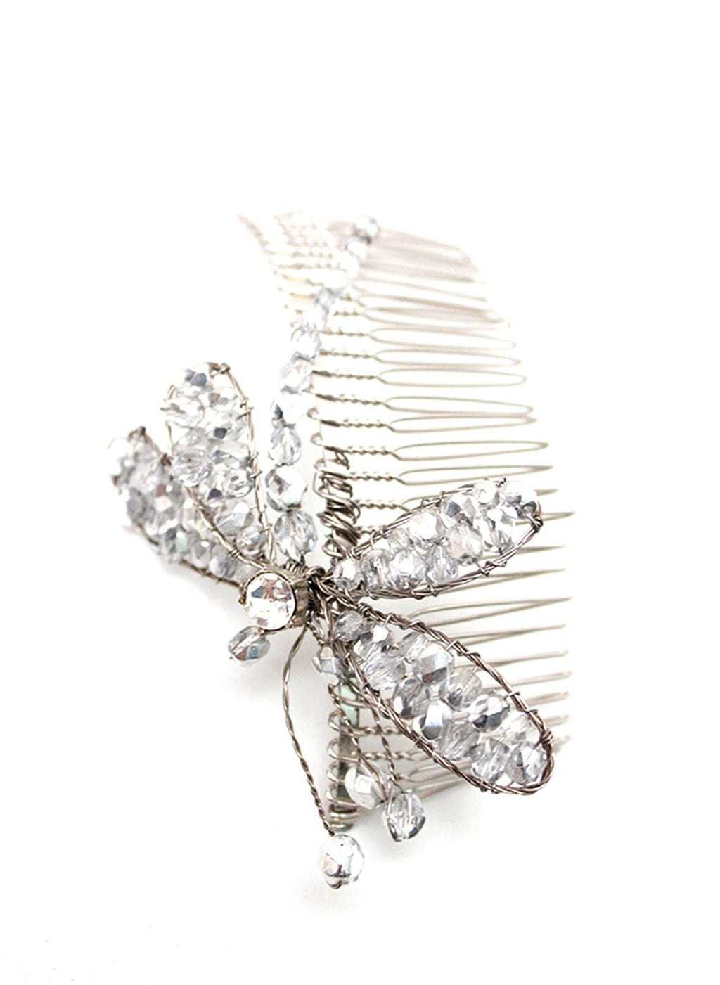 Style: ASTA Austrian Crystal Dragonfly Head Topping - Peony Rice