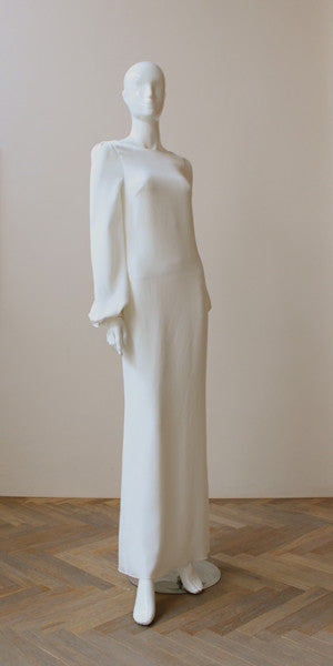 Style: INGRID Open Back Balloon Sleeve Gown