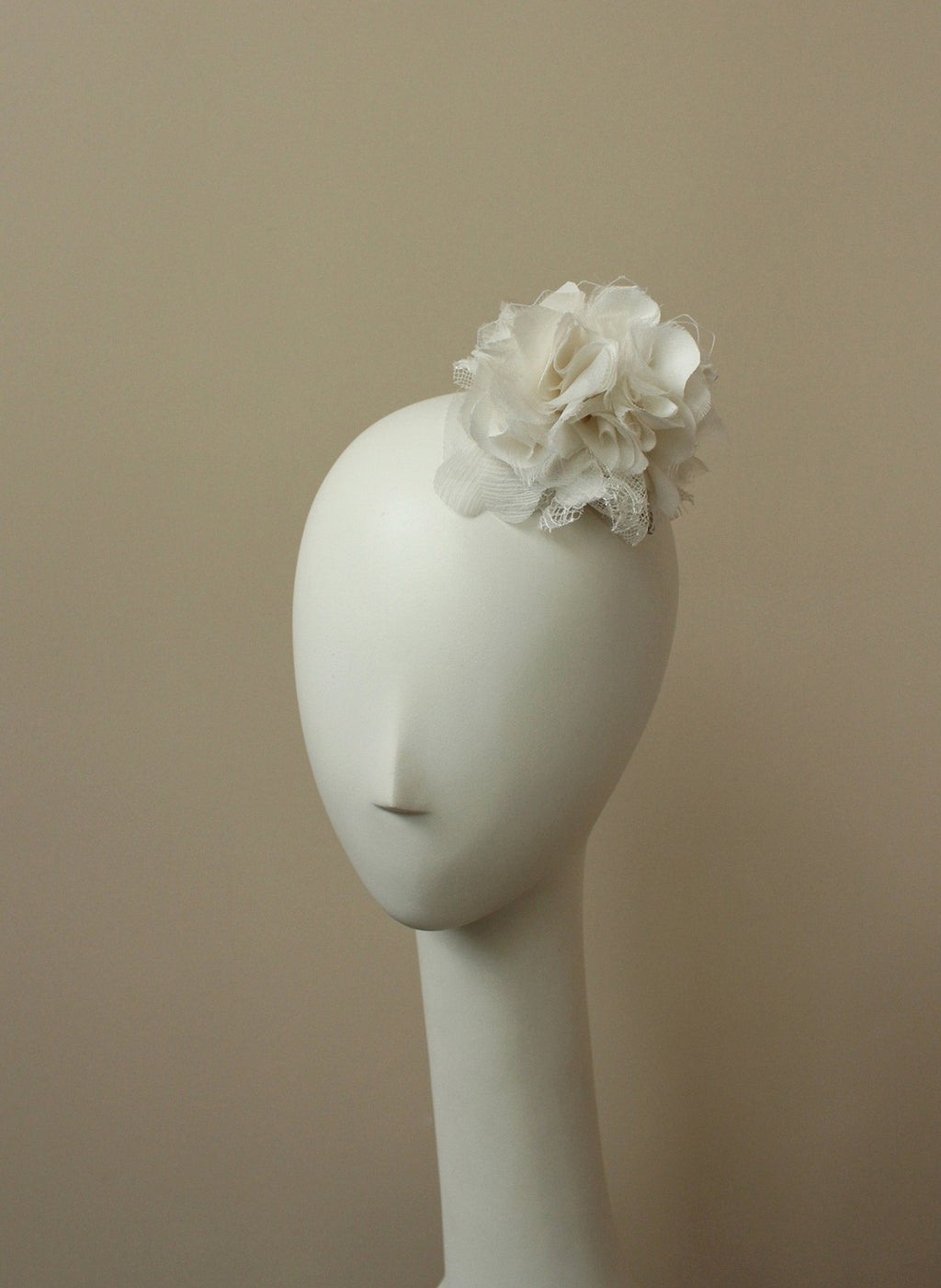 Style: ANNIKA Silk Petal Cluster & Lace Head Topping - Peony Rice