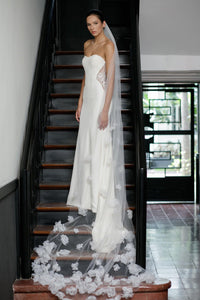 Copy of STYLE: JANINE Peony Cluster Embellished Cathedral Veil