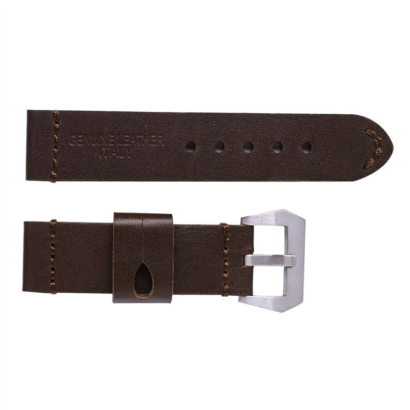 Calfskin Wide Leather Strap with Rugged Buckle