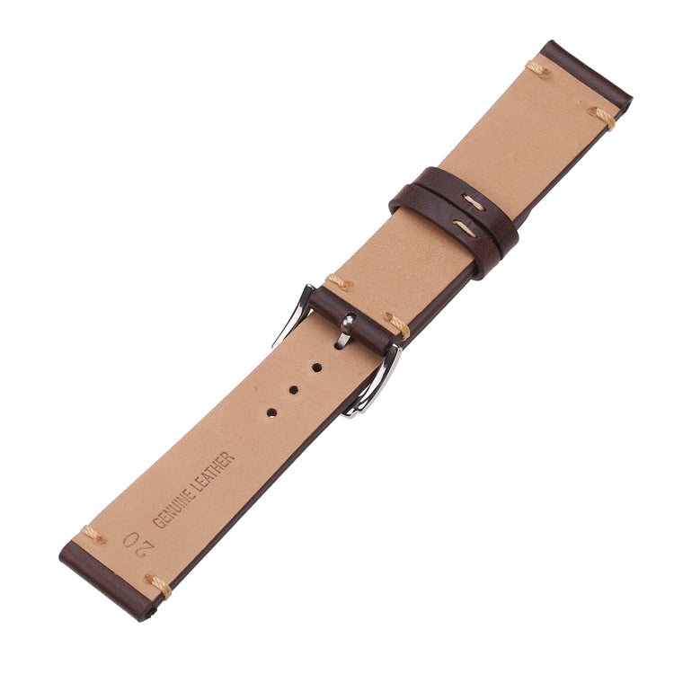 Glossy Wax Oil Calfskin Leather strap
