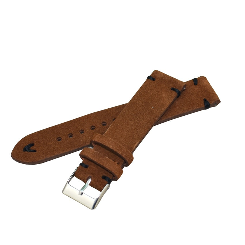 Havanna Brown Handmade Suede Leather Strap