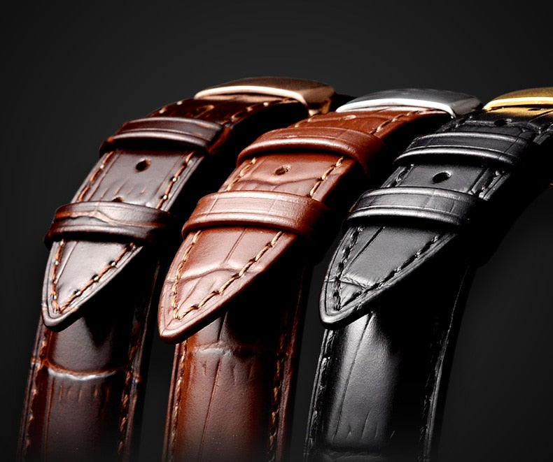 Italian Calfskin Leather with Butterfly Buckle