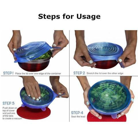 Reusable Stretchy Silicone Bowl Covers/Stretch And Seal Food Lids