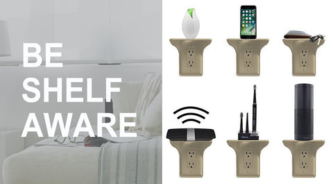 Wall Double Outlet Shelf Power Perch/Charging Socket Shelf With Best Reviews