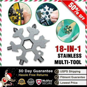 Amenitee 18-in-1 Stainless Steel Snowflake Multitool with Best Reviews