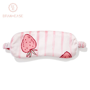 BrawEase Striped Strawberry Silk Sleep Eye Mask(One Strap)