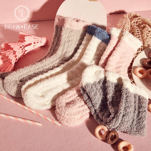 BrawEase Cute Flannel Socks(4 Sets)
