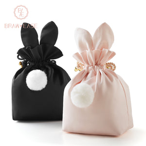 BrawEase Cute Rabbit Ear Storage Bag