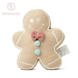BrawEase Gingerbread Man Shaped Pillow Cushion