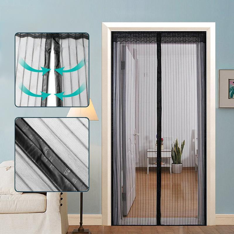 Best Magnetic Screen Door Curtain with Full Frame Velcro