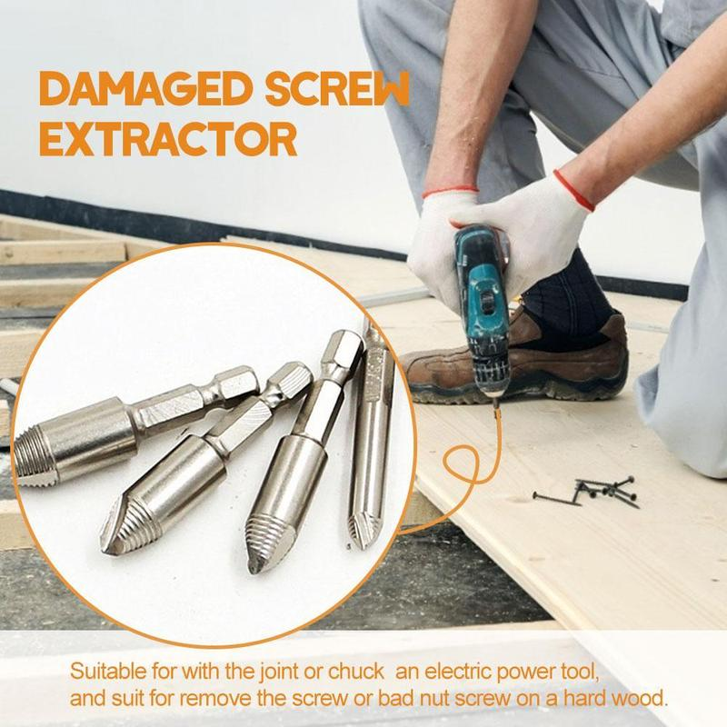 Best Speed Out Damaged Screw Extractor Kit Set