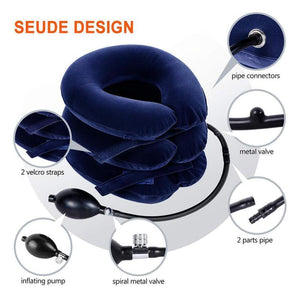 Cervical Traction Device, Inflatable Neck Support Brace Collar Pillow