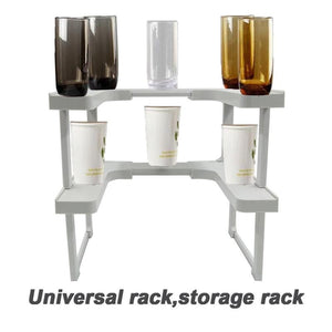 Edenware Expandable Spice Rack And Stackable Shelf - As Seen On TV Spice Cabinet Organizer Space Saver