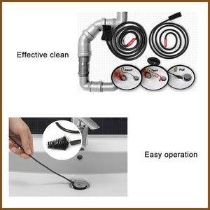 Flexible Stick Kitchen Sink Drain Unclog Cleaning Tool