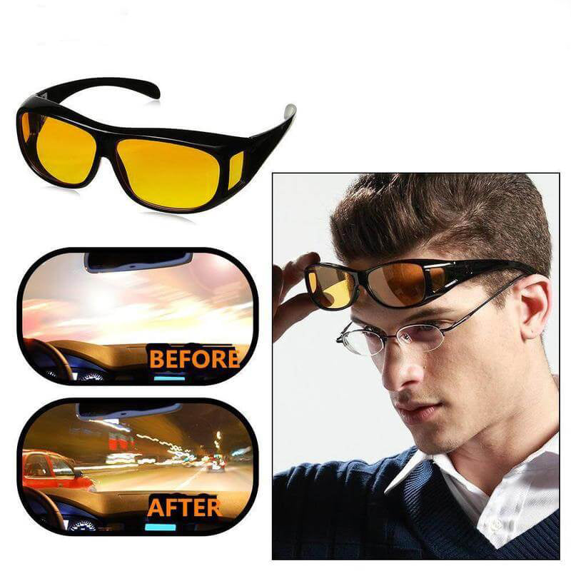 HD Night Vision Glasses For Driving As Seen On TV - Best Anti-Glare Sunglasses