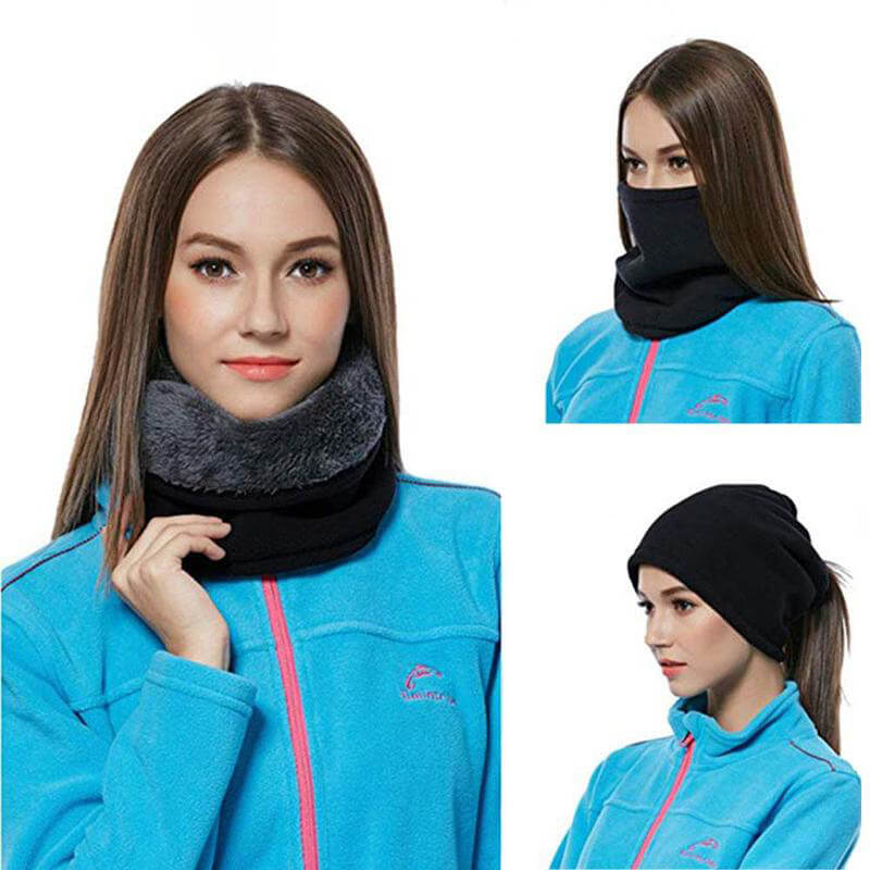 Hirundo 3-In-1 Winter Infinity Face Mask Warm Scarf for Men and Women