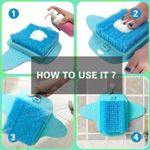 Hirundo Magic Shower Foot Scrubber Brush Cleaner