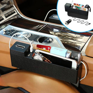 Hirundo Multifunctional Car Side Seat Crevice Storage Organizer Box