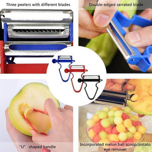 Magic Trio Vegetable Peeler(Set Of 3) - Potato Peelers With Best Review