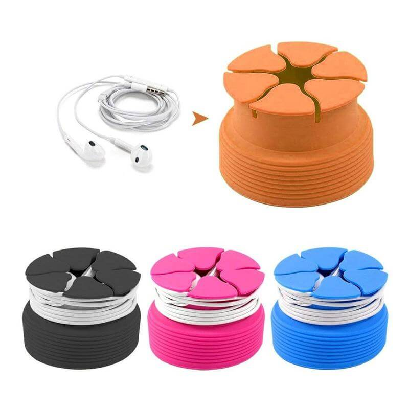 Portable Cord Wrap & Cable Winder For Headphone, Earbud, Earphone