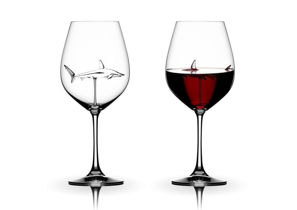 Shark Wine Glass Crystal Red Wine Perdonalized Goblet