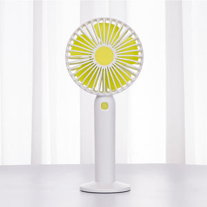 USB Rechargeable Mini Hand Held Fan - Portable Small Battery Operated Personal Desk Fan