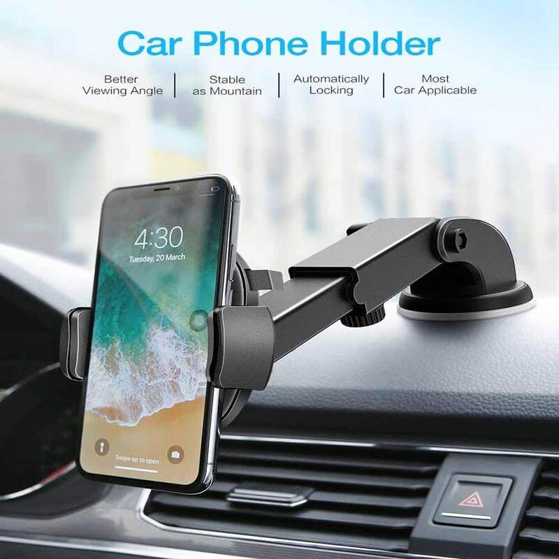 universal cell phone holder for car air vent - as seen on tv hands free car phone holder