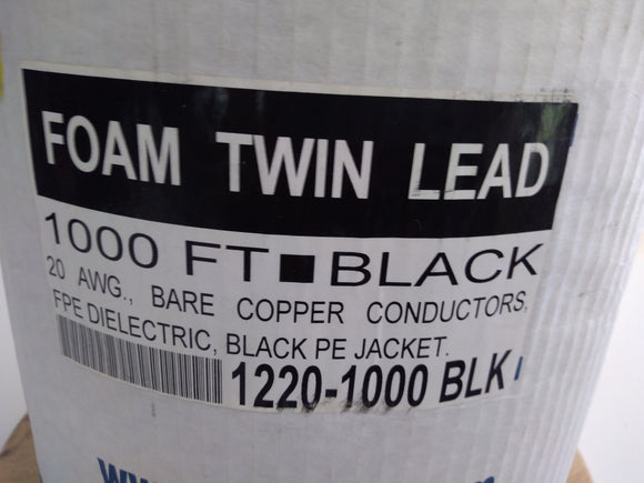 Foam insulated Twin Lead 300 ohm.