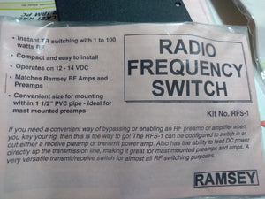 Ramsey Radio Frequency Switch RFS-1 Kit