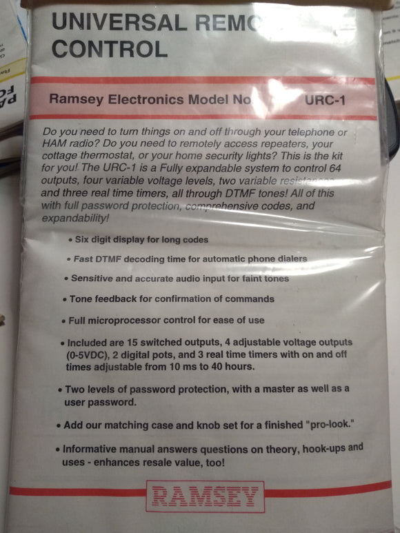 Ramsey Remote Control Kit URC-1