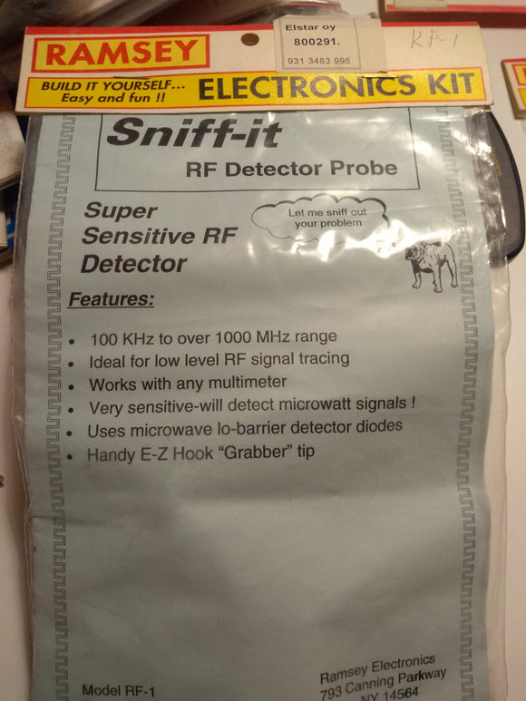 Ramsey Super Sensitive RF Detector Probe RF1