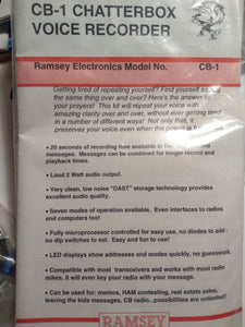 Ramsey CB-1 Chatterbox Voice Recorder Kit