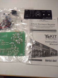 Ten-Tec Regenerative Receiver Kit with a Speaker and Earphone Audio, T1054