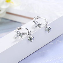 Load image into Gallery viewer, 925 Sterling Silver Crystal Earrings