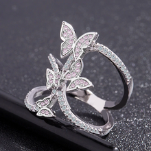 Load image into Gallery viewer, Crystal Butterfly Ring