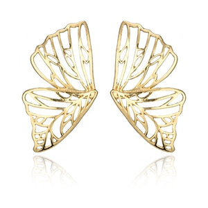 Gold and Silver Butterfly Earrings