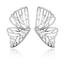 Load image into Gallery viewer, Gold and Silver Butterfly Earrings