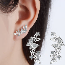 Load image into Gallery viewer, 925 Sterling Silver Bow Tie Earrings