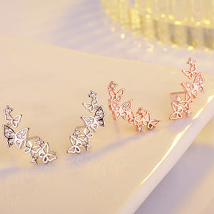 925 Sterling Silver Bow Tie Earrings