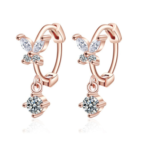 925 Sterling Silver Crystal Earrings