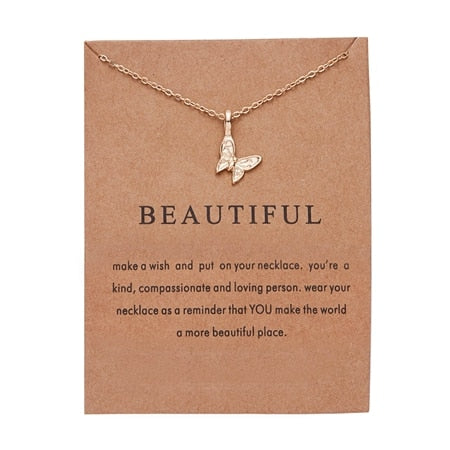 Butterfly Make-A-Wish Necklace
