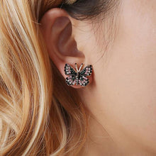 Load image into Gallery viewer, Glamorous Butterfly Earrings
