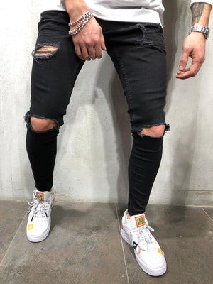 Knee Out Jeans Ripped 4252