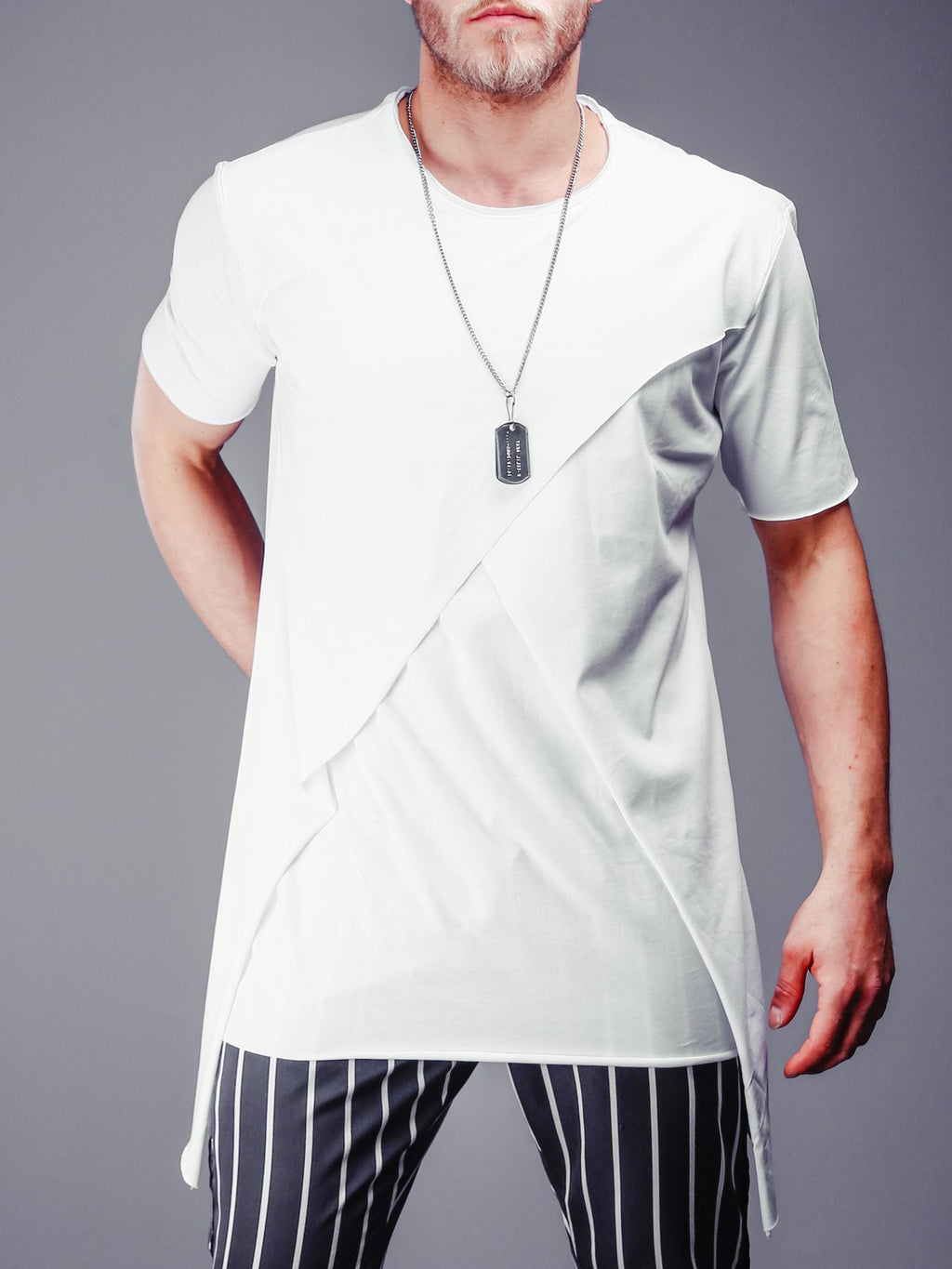 Raw Cut T-Shirt Patched Blocks 4307